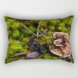 Understory of an Old Growth Lodgepole Pine Forest in Jasper National Park, Canada Rectangular Pillow