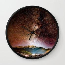 Milky Way Grainy Detail // Amazing Shot of the Galaxy in Colorado Long Exposure Star Gazing Photo Wall Clock