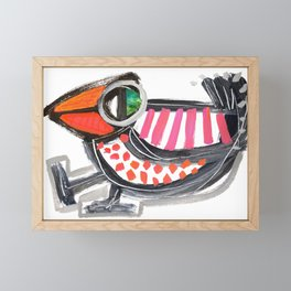 Dancing Bird Framed Mini Art Print