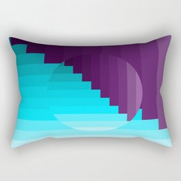 Ups and Down | Deep Within | Purple | Blue | Turquoise Rectangular Pillow