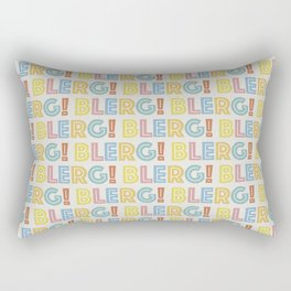 BLERG! in color Rectangular Pillow