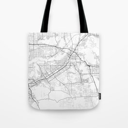 Minimal City Maps - Map Of Riverside, California, United States Tote Bag