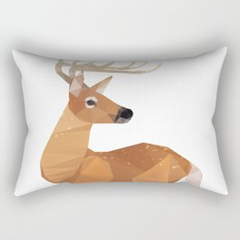 Low Poly White-tailed Deer Rectangular Pillow