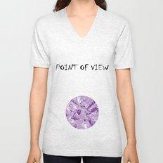 The mask - purple Unisex V-Neck