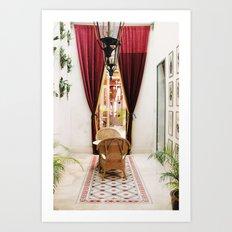 Colonial Style Tea Room in Merida, Mexico Art Print