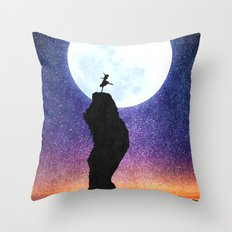 A Dance for the Moon Throw Pillow