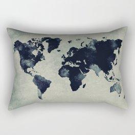 map world map 60 Rectangular Pillow