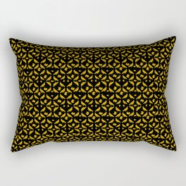 Royal Doves Black Rectangular Pillow