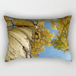 Aspens Against a Blue Sky Rectangular Pillow