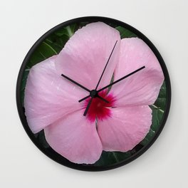 Simplicity in a Pink Flower Wall Clock
