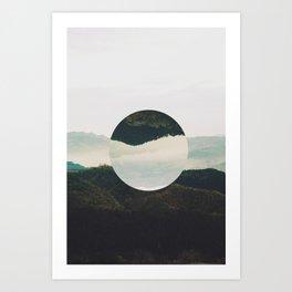 Up side down Art Print
