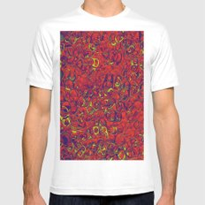 Ipad skins, Iphone, Computer, Canvas, Print, Red, Abstract, Funky MEDIUM Mens Fitted Tee White