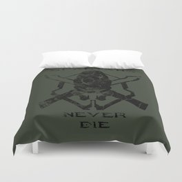 Spartans Never Die  |  Halo Duvet Cover