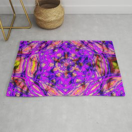 Pink kaleidoscopes in abstract Rug
