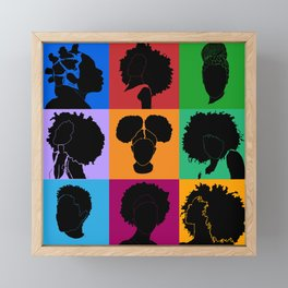 FOR COLORED GIRLS COLLECTION COLLAGE Framed Mini Art Print