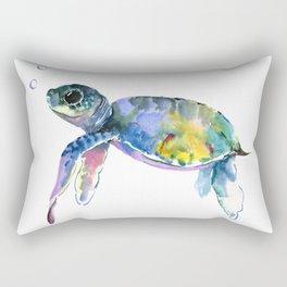 Sea Turtle, children artwork Illustration Rectangular Pillow