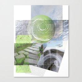 garden steps Canvas Print