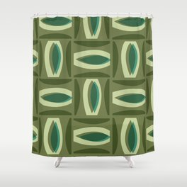 Alcedo - Green Shower Curtain