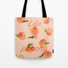 Life is peachy print Tote Bag