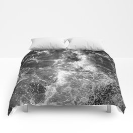 Ocean Glow - Black and White Nature Photography Comforters