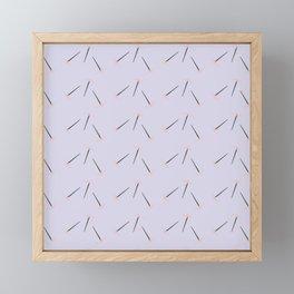 Minimalist Pixel Floral Lavender Pattern Framed Mini Art Print
