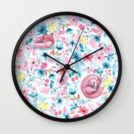 Fox in the Garden Wall Clock