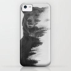 Observing Bear (black & white version) iPhone 5c Slim Case