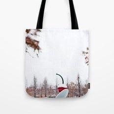 snow spoon & cherry Tote Bag