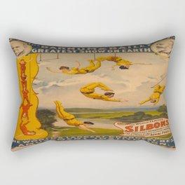 Vintage poster - Circus Trapeze Act Rectangular Pillow