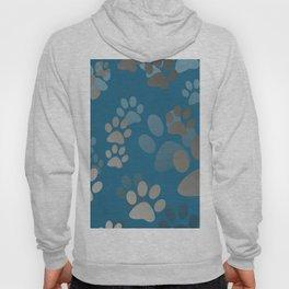 Footprint Animal turquoise Hoody