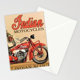 Classic Indian Roadmaster Biker Motorcycle Vintage Advertisement Poster Stationery Cards