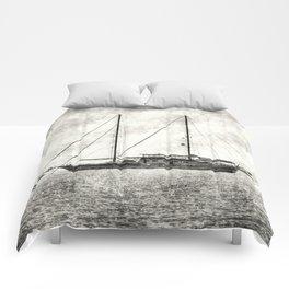 Vintage Schooner Comforters
