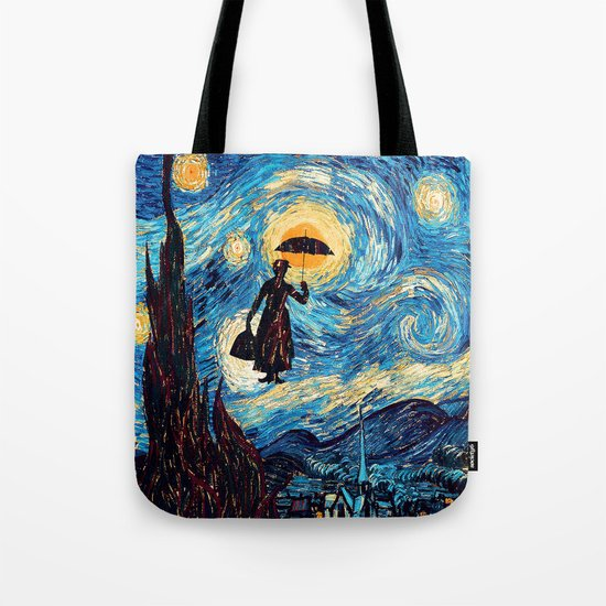 mary poppins Starry Night oil painting iPhone 4 4s 5 5c 6, pillow case, mugs and tshirt Tote Bag