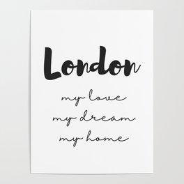 London Print Poster