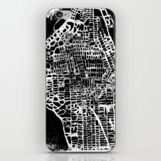 NEW YORK CITY MAP iPhone & iPod Skin