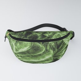 Painted Green Monstera palm leaves by Brian Vegas Fanny Pack