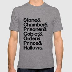 Stone & Chamber & Prisoner & Goblet & Order & Prince & Hallows LARGE Tri-Grey Mens Fitted Tee