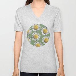 pastel daisy mania Unisex V-Neck