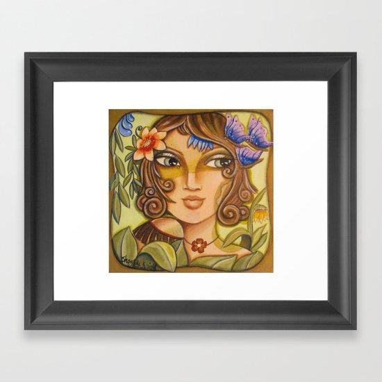 Mona Lisa's Butterflys Framed Art Print
