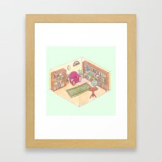 reading room Framed Art Print