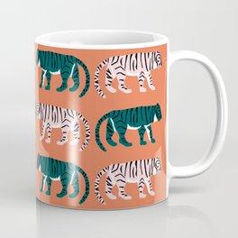 Orange, Blush & Green Tigers Coffee Mug