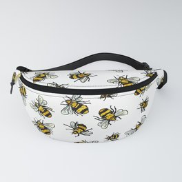 ALL DA BEEZ - White (now plus minis) Fanny Pack