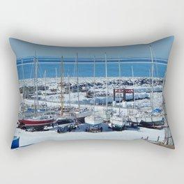 Sailboats in Winter Rectangular Pillow