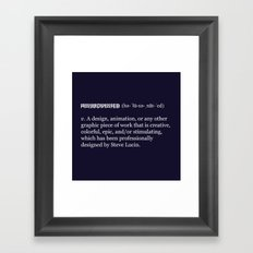 Halucinated Defined Framed Art Print