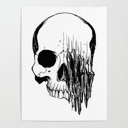 Skull (Distortion) Poster