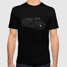The A-Team Van Mens Fitted Tee Black LARGE
