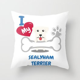 SEALYHAM TERRIER Cute Dog Gift Idea Funny Dogs Throw Pillow