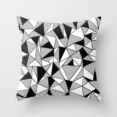 Ab Lines with Black Blocks Throw Pillow