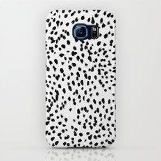 Nadia - Black and White, Animal Print, Dalmatian Spot, Spots, Dots, BW Slim Case Galaxy S8