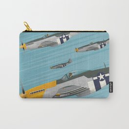 P51 Mustang Flying in Formation Carry-All Pouch